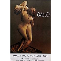 "Gallery Poster ""Twelve Erotic Fantasies; 1974""  Gallo"