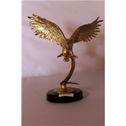 Landing Eagle - Gold over Bronze Sculpture after SPI