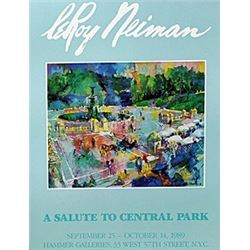 "Print ""A Salute to Central Park""  Leroy Neiman"
