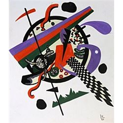 Composition III - Oil on Paper - W. Kandinsky