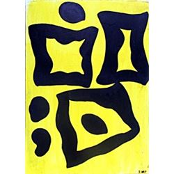 The Lake - Oil on Paper - Jean Hans Arp