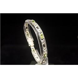 Beautiful Peridots Silver Bracelet