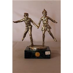 Together on the Glass  - Silver Sculpture - after Dennis Smith
