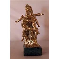 Tobogganeers - Gold over Bronze Sculpture - after Dennis Smith