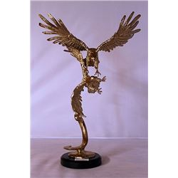 Eagles - Gold over Bronze Sculpture - after SPI
