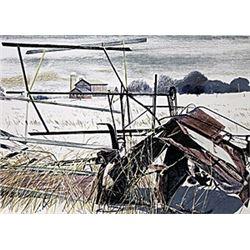 "Lithograph, Entitled: ""Scrap Metal"""