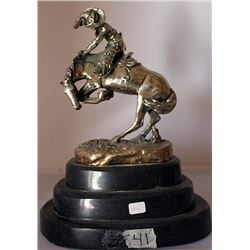 Rattlesnake - .999 Silver Sculpture - Old Cast Frederic Remington