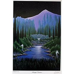 "Lithograph ""Twilight Visitation""  Steven Lavaggi"