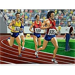 "Lithograph ""Bruce Jenner Decathlon""  William Nelson"