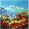 """Image 1 : Serigraph """"Poppies in the Wind""""  Zina Roitman"""