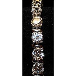 Beautiful Russian Cubic Zirconia SS Bracelet.