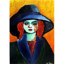 Anita - Oil on Paper - Kees Van Dongen