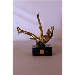 Falling - Gold over Bronze Sculpture - after Dennis Smith