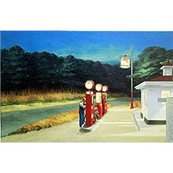 "Print ""Gas 1940""  Edward Hopper"