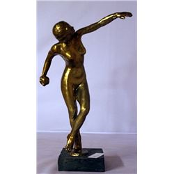 Gold over Bronze Sculpture -after  L. Allioy