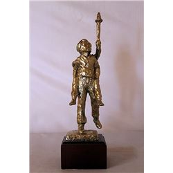 The Torch - Gold over Bronze Sculpture - after Dennis Smith