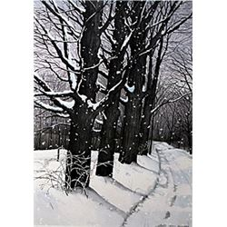 "Lithograph ""Country Lane""  Helen Rundell"