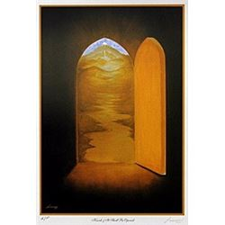 "Lithograph ""Knock and It Shall Be Opened""  Steven Lavaggi"
