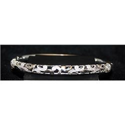 Beautiful Silver Bracelet with Diamonds (108I)
