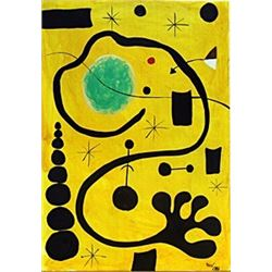 Child with Dog - Oil on Paper - Joan Miro