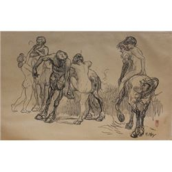 Museum Lithograph after Heinrich Kley