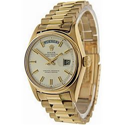 Men's 18K Day-Date SilverFace Rolex