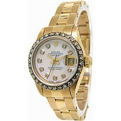 Ladys 18K DateJust Mother of Pearl Rolex