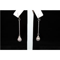 Dazzling Dangling Silver Earrings (4E)