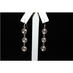 Exquisite Swirled Silver Earrings (17E)