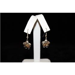 Exquisite T & Co. Flower Silver Earrings (37E)