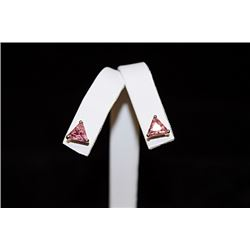 Fine Pink Gemstone Stud Earrings (46E)