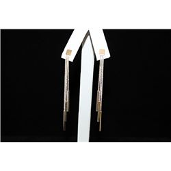 Stunning Dangly Silver Earrings (60E)