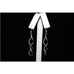 Beautiful Swirled Silver Earrings (63E)