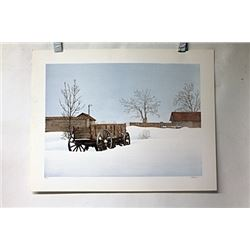 Hand Signed Lithograph Olson