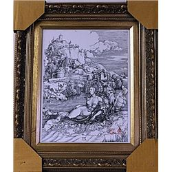 Framed Albrecht Dürer-The Sea Monster Engraving  (47E-EK)