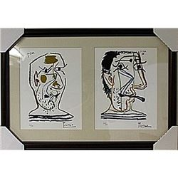 Framed 2-in-1-Picasso Lithographs (107E-EK)