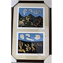 Framed 2-in-1 Picasso Lithographs (121E-EK)