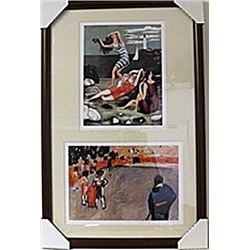 Framed 2-in-1 Picasso Lithographs (130E-EK)