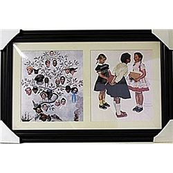 Framed 2-in-1 Norman Rockwell Lithographs (133E-EK)