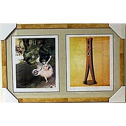 Framed 2-in-1  Edgar Degas Lithographs (136E-EK)