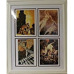 Framed 4-in-1 Louis Icart Lithographs (146E-EK)