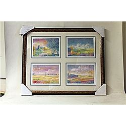 Framed 2-in-1 Engravings (217E-EK)