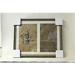 Framed 2-in-1 Engravings (222E-EK)