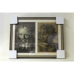 Framed 2-in-1 Engravings (223E-EK)