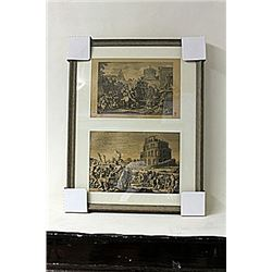 Framed 2-in-1 Engravings (230E-EK)