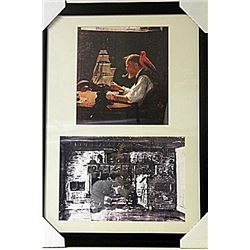 Framed 2-in-1 Norman Rockwell Lithographs (233E-EK)