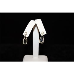 Beautiful Sapphire Silver Earrings (73E)