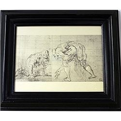 Framed Engraving (63E-EK)