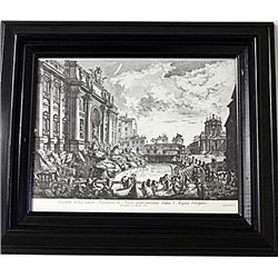 Framed Nicola Salvi-Engraving (68E-EK)