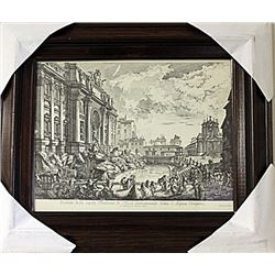 Framed Nicola Salvi-Engraving (69E-EK)